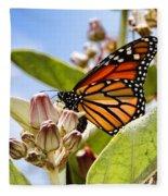 Wings Up Monarch Butterfly By Diana Sainz Fleece Blanket