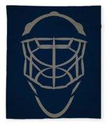 Winnipeg Jets Goalie Mask Fleece Blanket