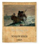 Winslow Homer 2 Fleece Blanket