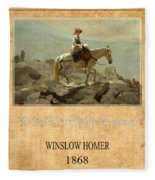 Winslow Homer 5 Fleece Blanket
