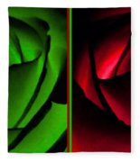 Winsome Roses Pair Fleece Blanket