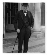 Winston Churchill Fleece Blanket