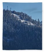 Winter And Mt Baldy Panorama Fleece Blanket