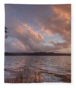 Winter At Big Lagoon Fleece Blanket