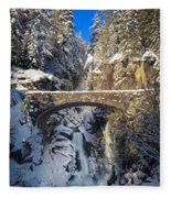 Winter At Christine Falls Fleece Blanket