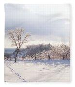 Winter At Scarborough Bluffs Fleece Blanket