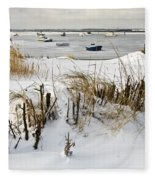 Winter At The Beach 2 Fleece Blanket