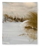 Winter At The Beach 3 Fleece Blanket