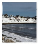 Winter At The Coast Fleece Blanket