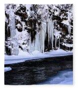 Winter At The Creek Fleece Blanket