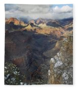 Winter At The Grand Canyon Fleece Blanket