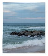 Winter Beach Day Lavallette New Jersey Fleece Blanket