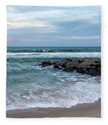 Winter Beach Lavallette New Jersey  Fleece Blanket