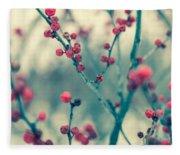 Winter Berries Fleece Blanket