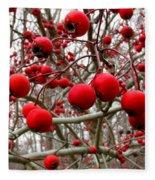 Winter Berryscape Fleece Blanket