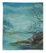 Winter Blue Fleece Blanket