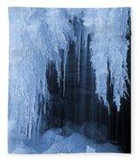 Winter Blues - Frozen Waterfall Detail Fleece Blanket