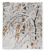 Winter Branches Fleece Blanket