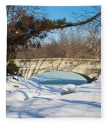 Winter Bridge Fleece Blanket