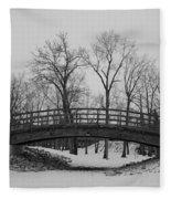Winter Bridge Fleece Blanket