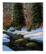 Winter Brook Fleece Blanket