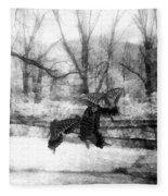 Winter Butterflies Fleece Blanket