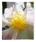 Winter Camellia Fleece Blanket