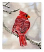Winter Cardinal Fleece Blanket