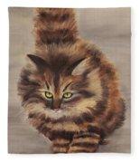 Winter Cat Fleece Blanket