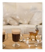 Winter Coffee Fleece Blanket