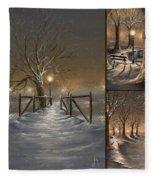 Winter Collage Fleece Blanket
