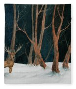 Winter Deer Fleece Blanket