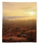 Winter Desert Glow Fleece Blanket