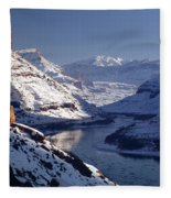612702-winter Desert River, Ut Fleece Blanket