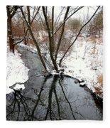 Winter Ditch Fleece Blanket