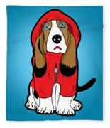 Winter Dog  Fleece Blanket