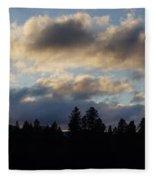 Winter Eve In The Applegate Valley Fleece Blanket