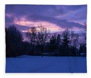 Winter Evening In Grants Pass Fleece Blanket