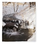 Winter Falls On Big Stone Lake  Fleece Blanket