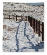 Winter Fence Fleece Blanket