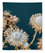 Winter Flowers Fleece Blanket