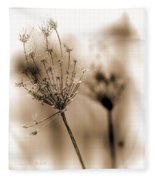 Winter Flowers II Fleece Blanket