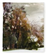 Winter Foliage Fleece Blanket