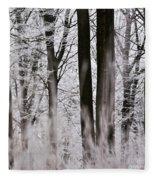 Winter Forest 1 Fleece Blanket
