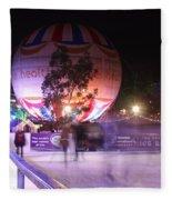 Winter Gardens Ice Rink And Balloon Bournemouth Fleece Blanket
