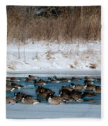 Winter Geese - 02 Fleece Blanket