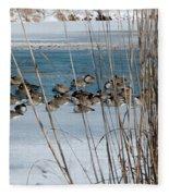 Winter Geese - 04 Fleece Blanket