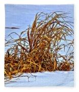 Winter Grasses II Fleece Blanket