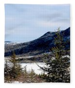 Winter Has Arrived In The Valley Fleece Blanket