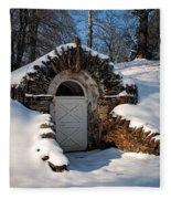 Winter Hobbit Hole Fleece Blanket